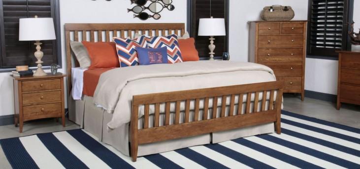 Gatherings Cinnamon Slat Bedroom Set