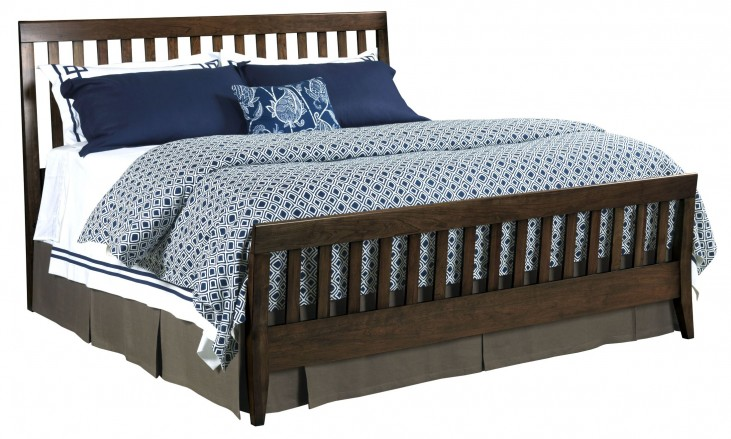 Gatherings Molasses King Slat Bed