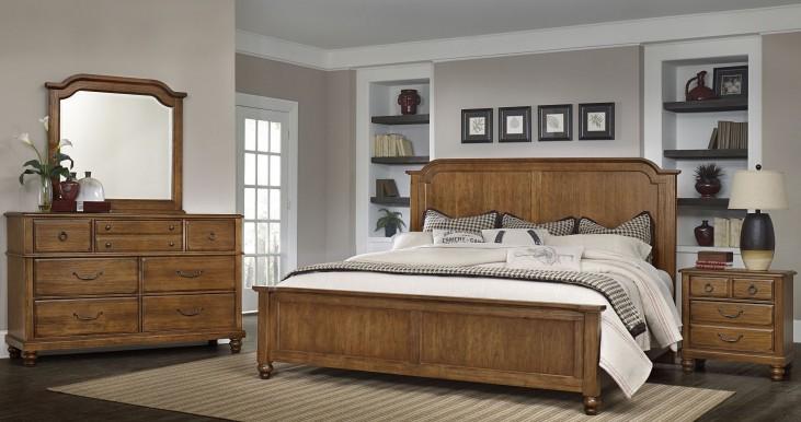 Arrendelle Antique Cherry Mansion Bedroom Set