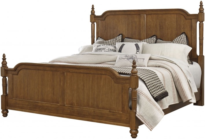 Arrendelle Antique Cherry Queen Poster Bed