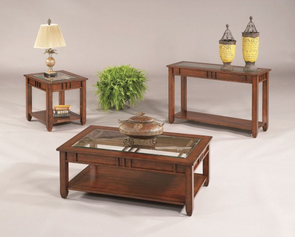 Mission Hills Brown Cherry Occasional Table Set