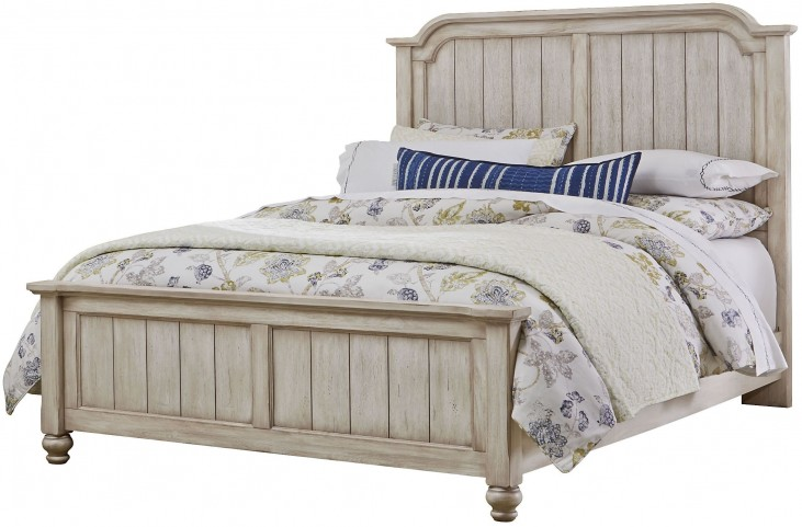 Arrendelle Rustic White and Cherry Queen Mansion Bed