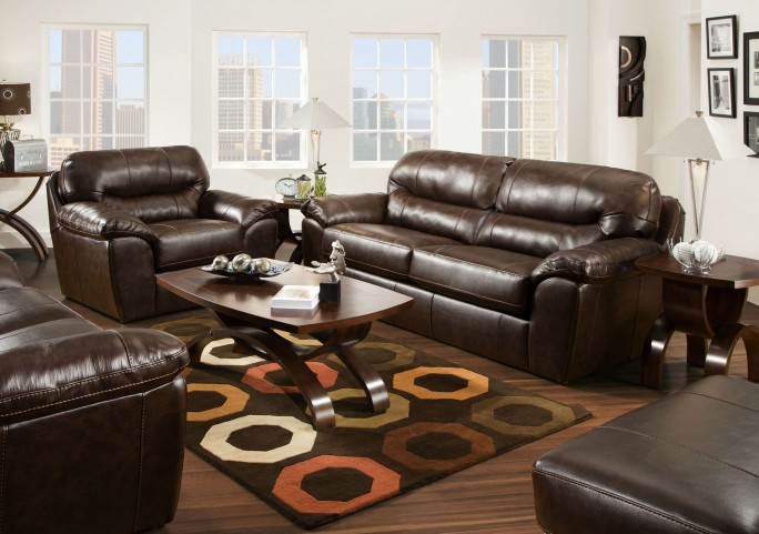 Brantley Java Living Room Set