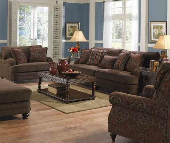 Brennan Auburn Living Room Set