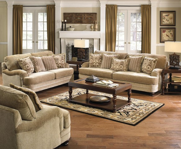 Brennan Camel Living Room Set