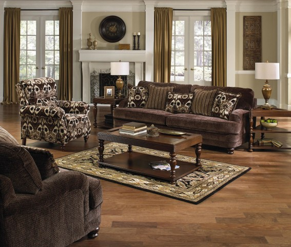 Brennan Espresso Living Room Set