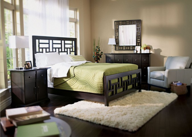 Perspectives Lattice Low Profile Bedroom Set