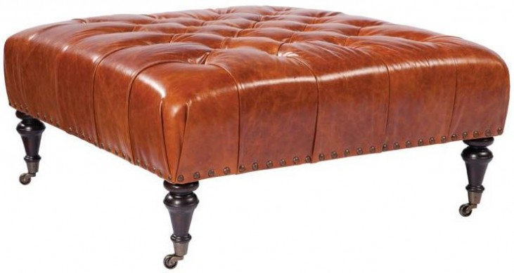 Dillon Weston Copper Cocktail Leather Ottoman
