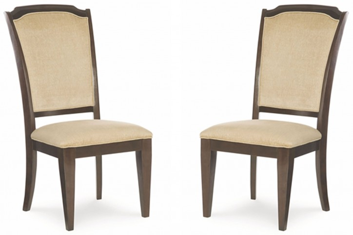 Sophia Upholstered Ribbon Back Side Chair Set of 2