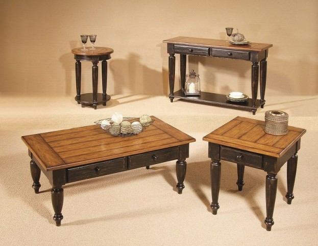 Country Vista Black and Golden Occasional Table Set