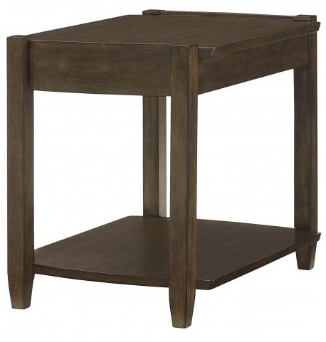 Alba Graphite Oak Rectangular Drawer End Table