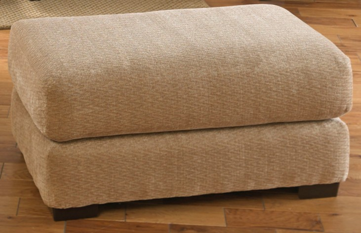 Prescott Oatmeal and Brick Ottoman