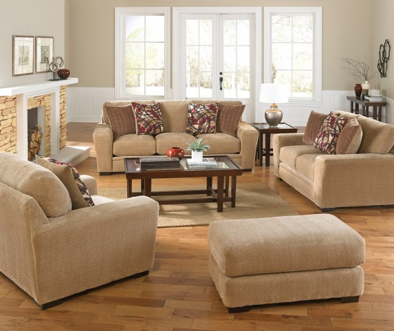 Prescott Oatmeal and Brick Living Room Set