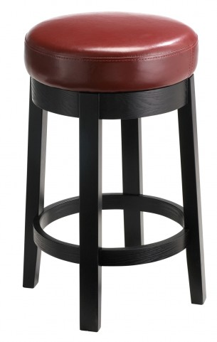 Cedric Oxblood Swivel Counter Stool