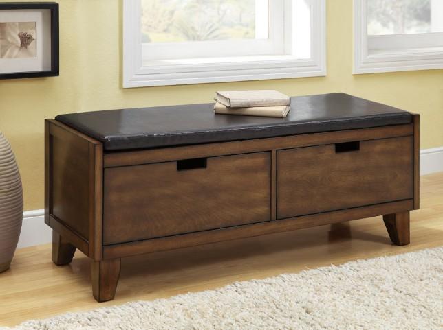4508 Dark Walnut Solid Wood Storage Bench
