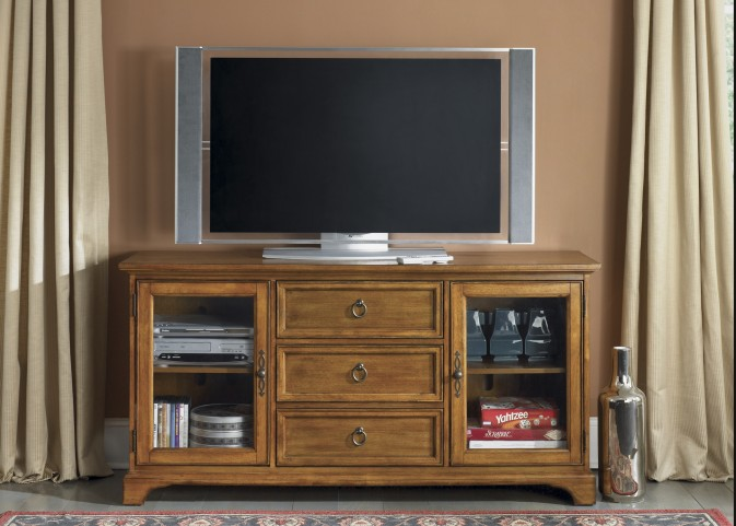 Beacon Oak 64 Inch TV Console