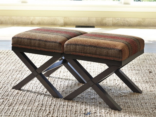 Fiera Brick Accent Ottoman Set of 2