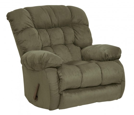 Teddy Bear Sage Swivel Glider Recliner
