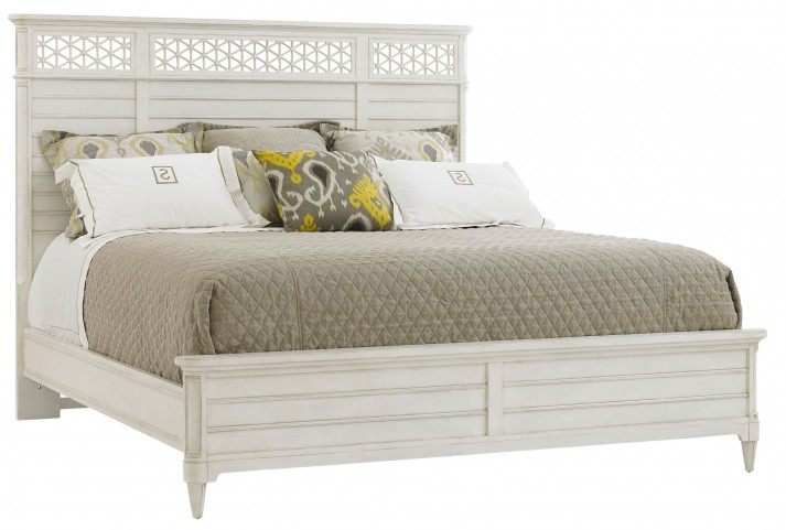 Coastal Living Parchment Cypress Grove Wood Queen Panel Bed
