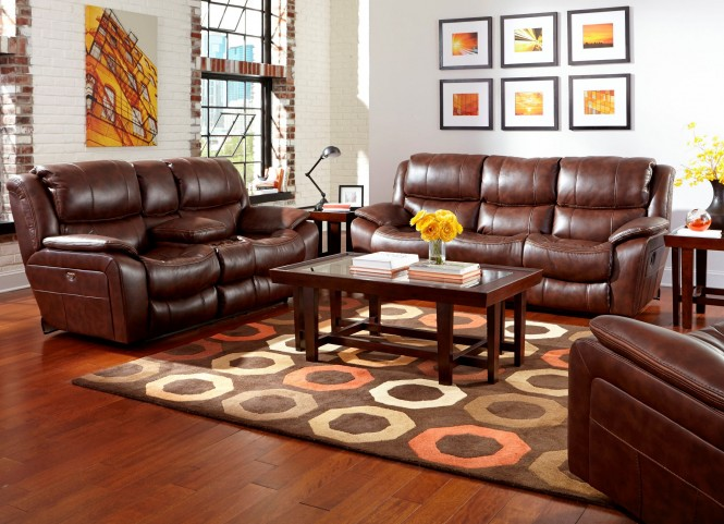 Beckett Java Reclining Living Room Set