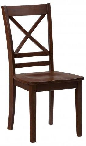 Simplicity Caramel X Back Chair Set of 2