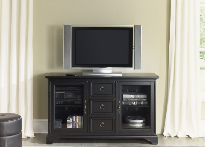Beacon Black 54 Inch TV Console