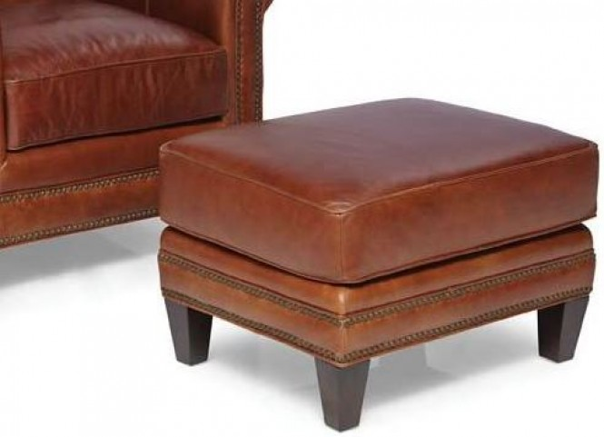 Pendleton Trends Coffee Leather Ottoman