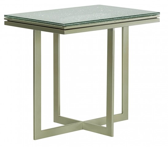 Stratus Umber Brown Pecan Accent Table