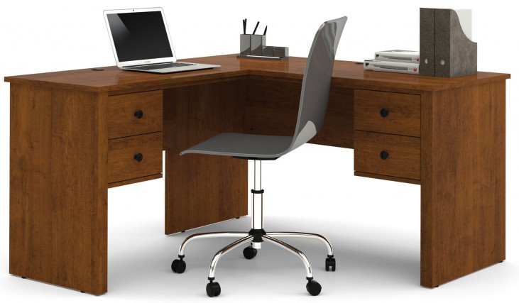 Somerville Tuscany Brown L-Shaped Desk