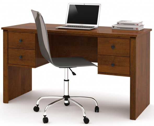 Somerville Tuscany Brown Workstation With Two Pedestals
