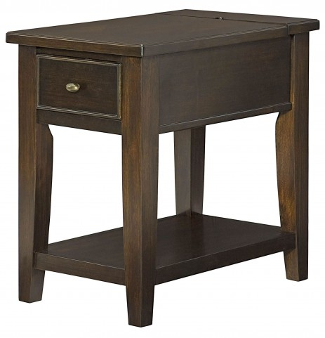 Boulevard Chocolate Brown Charging Chairside Table