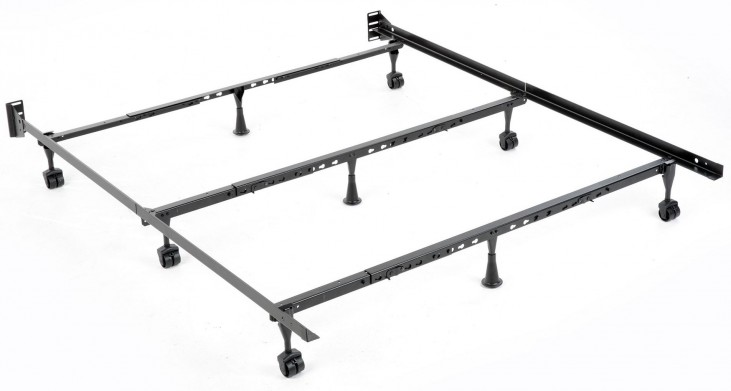 Solutions Black Powder Coat Universal Folding Bed Frame