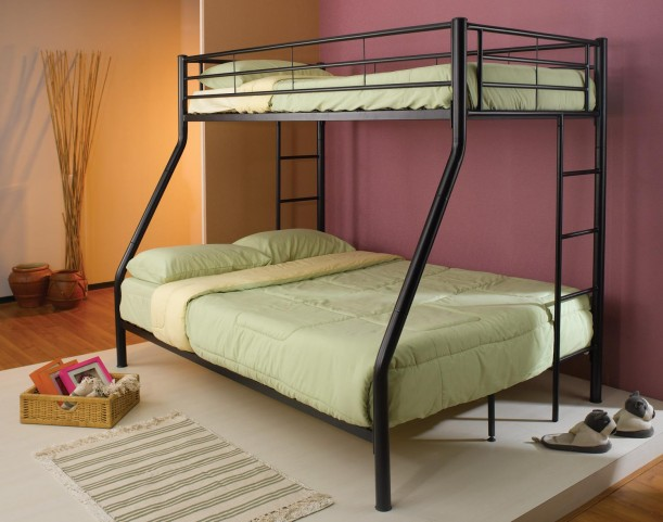 Denley Black Twin Over Twin Metal Bunkbed 460062B