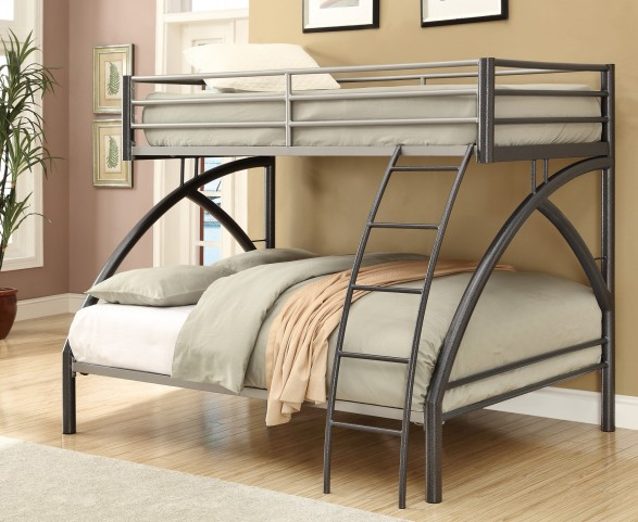460079 Black Twin Over Full Bunk Bed