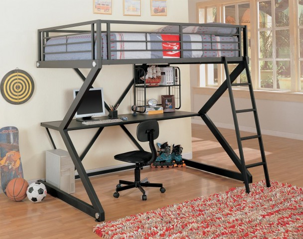 Bunks Workstation Black Workstation Loft Bed