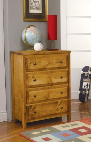 Wrangle Hill Amber Wash 4 Drawer Chest
