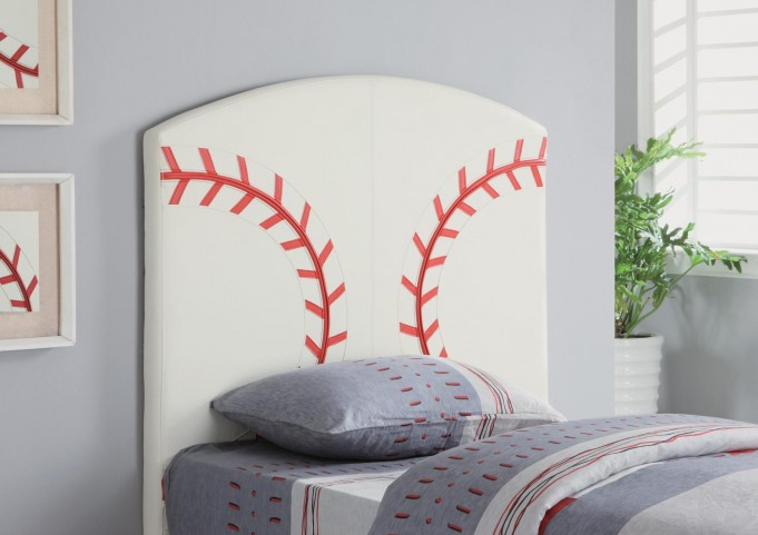 White Twin Headboard 460167