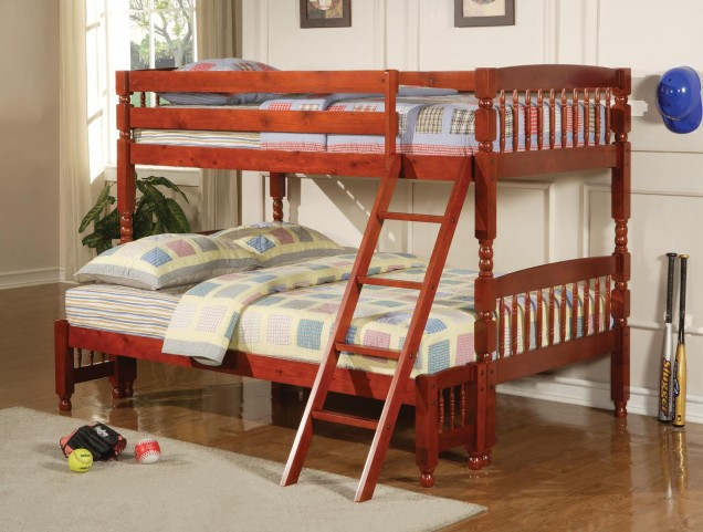 Coral Cherry Twin Over Full Bunkbed 460222