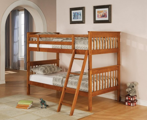 Bunks Distressed Pine Twin Over Twin Bunk Bed 460233