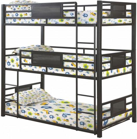 Rogen Gunmetal Twin Triple Bunk Bed