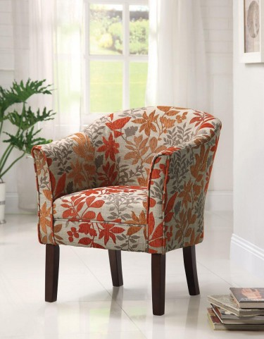 Red Accent Chair 460407