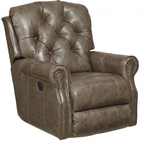 Davidson Smoke Leather Rocker Recliner