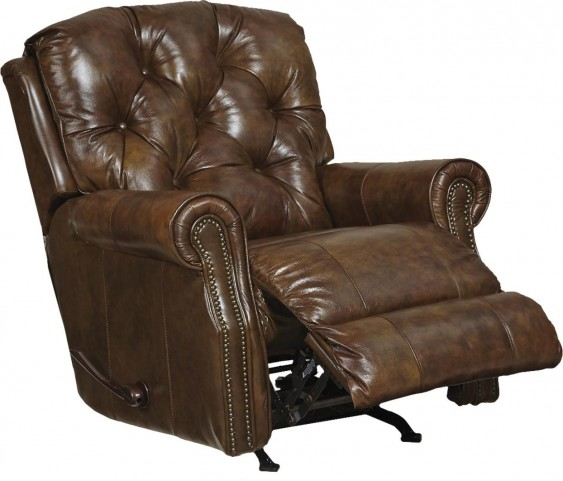 Davidson Timber Leather Power Rocker Recliner