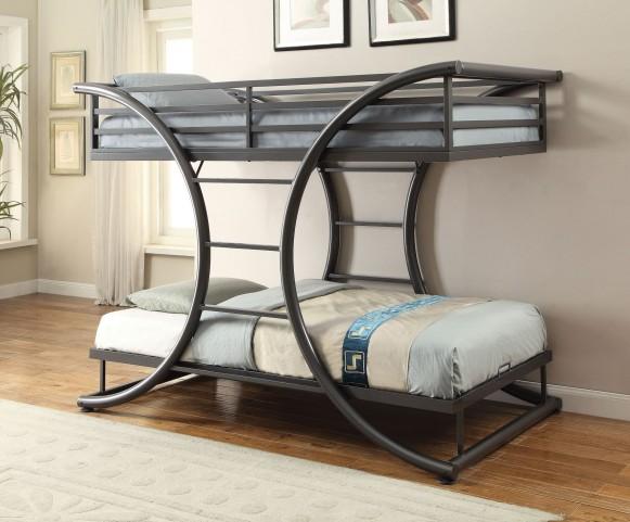 Stephan Gunmetal Twin and Twin Bunk Bed