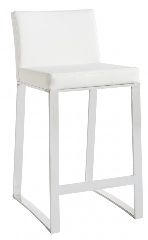 Architect White Barstool