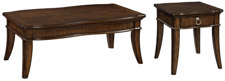 Elaina Rustic Cherry Occasional Table Set