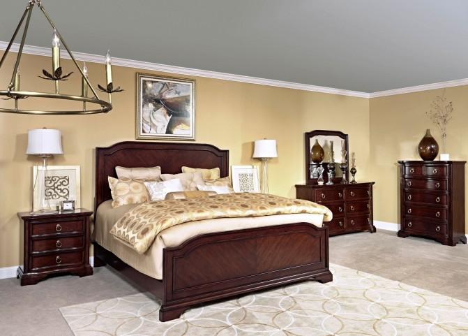 Elaina Rustic Cherry Panel Bedroom Set