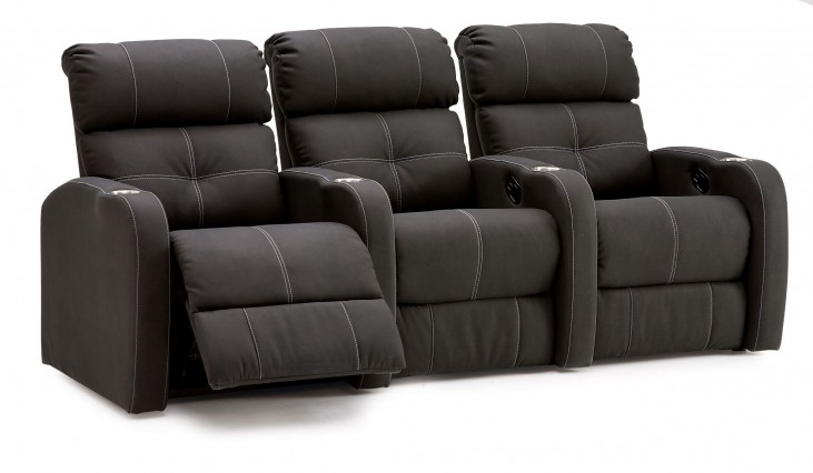 Stereo Bonded Leather Power Reclining Home Theatre Seating