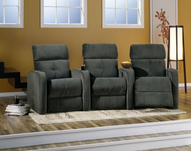 Stereo Upholstered Power Reclining Home Theatre Seating
