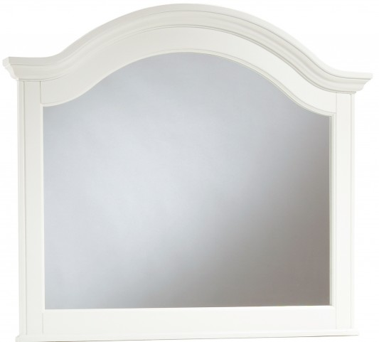 Hayden Place White Arched Mirror